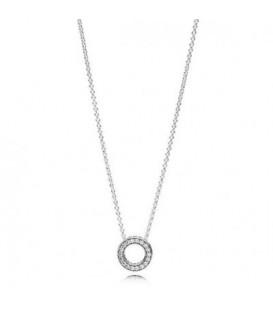 Collar en plata corazones de Pandora 397436CZ-45