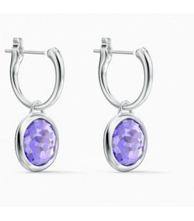 Pendientes Swarovski aro Tahlia violeta 5572586