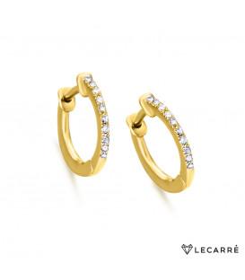 Pendientes LeCarré oro diamantes GB007OA.00