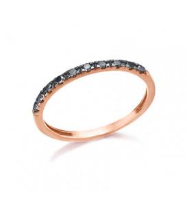 Anillo LeCarré diamantes negro GA076OR.13-BL