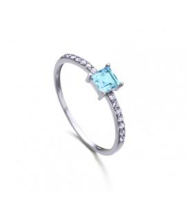 Anillo LeCarré topacio diamantes GA016OB.13