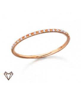 Anillo LeCarré oro rosa diamantes GA003OR.13