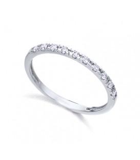 Anillo LeCarré oro blanco diamantes GA076OB.15