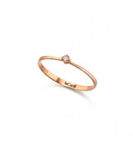 Anillo LeCarré oro rosa diamante GA008OR.BR