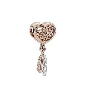 Abalorio Pandora Rose Atrapasueño con dos Plumas 789068C00