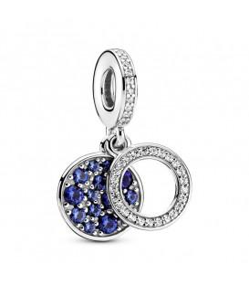 Abalorio Pandora Doble Disco Azul 799186C