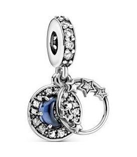 Abalorio Pandora Azul Noche y Luna Creciente 799216C01