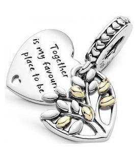 Abalorio Pandora corazón de Árbol Genealógico 799161C00