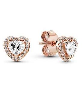 Pendiente Pandora Rose Corazones Brillantes Elevados 288427C01