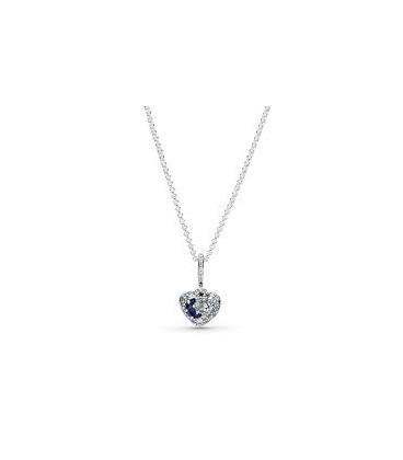 Colgante Pandora Corazón Brillante de Luna Azul y Estrellas 399232C01-50