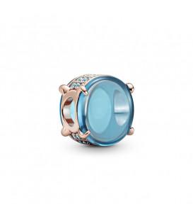 Charm cabujón ovalado azul rose Pandora 789309C01