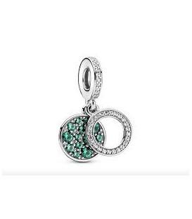 Abalorio Pandora Doble Disco Verde Brillante 799186C02
