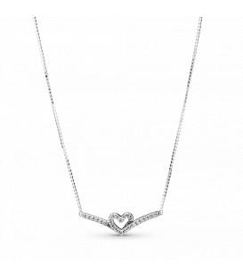 Collar Pandora Corazón Espumoso Brillante 399273C01