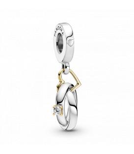 Charms colgante de plata anillos de boda 799319C01