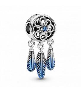 Charm en plata de ley Atrapasueños azul Pandora 799341C01