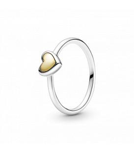Anillo corazón dorado Pandora 199396C00
