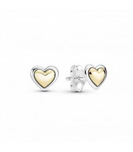 Pendientes Corazón Cúpula Dorada Pandora 299389C00