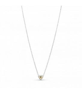 Collar Corazón Cúpula dorada Pandora 399399C00-45