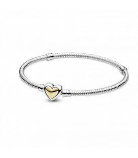 Pulsera Pandora Corazón Cúpula Dorada 599380C00