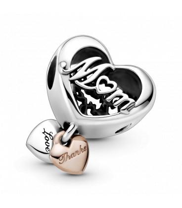 Abalorio Pandora Rose Corazón Gracias Mama 789369C01