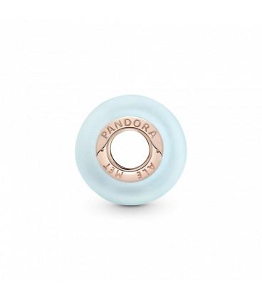Charm de Pandora rosé Cristal de Murano azul mate 789420C00