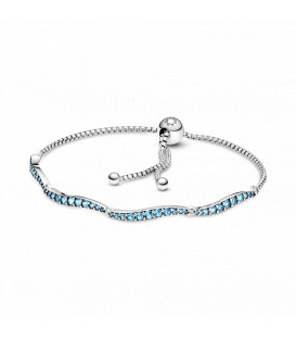 Pulsera Pandora Deslizante Azul Ondulado 599436C01