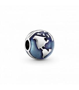 Clip Pandora Globo Azul 799429C01