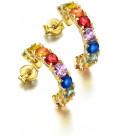 Pendientes LeCarré oro y zafiros multicolores GB0150A.00