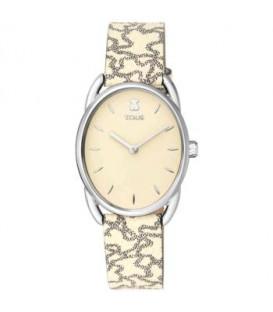 Reloj Dai acero con correa de piel Kaos Beige 100350435