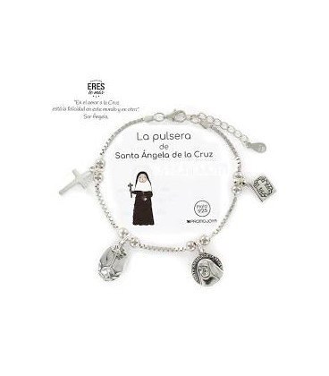 """Pulsera Promojoya """" Eres lo Más"""" Santa Ángela de la Cruz 9109864"""
