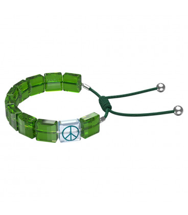 Pulsera Swarovski Letra Verde Peace 5615003