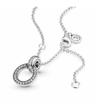 Collar colgante Circulo doble Pandora 399487C01-45