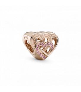 Abalorio Pandora Corazones de Amor Entrelazados 789529C01