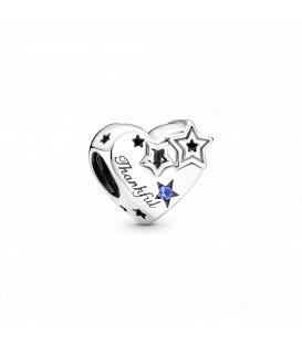 Charm Pandora Corazón Agradecido y Estrellas 799527C01