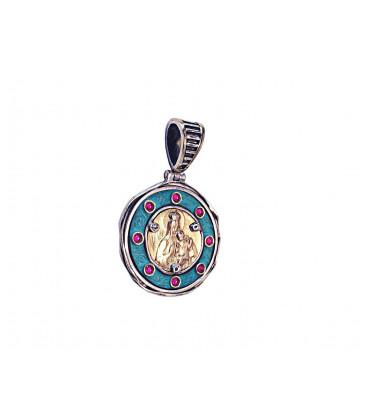 Medalla Virgen del Carmen Rubíes 11E0446