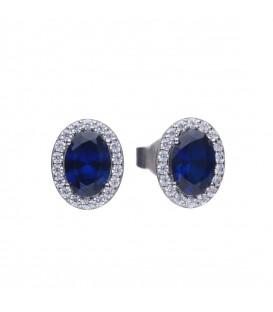 Pendientes DiamonFire Royal circonita azul 6220701089