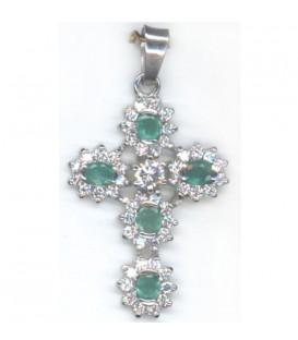 Colgante A.M. Cruz de Esmeraldas Verdes