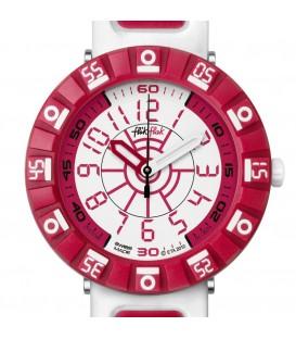 Reloj Flik Flak Shaped White And Red