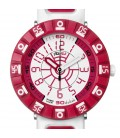 Reloj Flik Flak Shaped White And Red