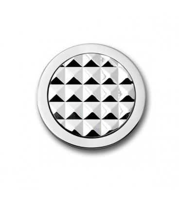 Moneda Stud rodio oro blanco S