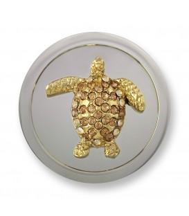 Moneda tortuga 3D M