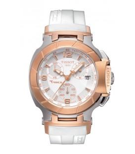 Reloj Tissot T-Race Quartz Blanco Caramelo