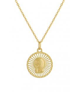 Conjunto de oro 1ª comunión virgen niña