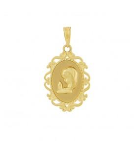 Medalla de oro comunión firigrana