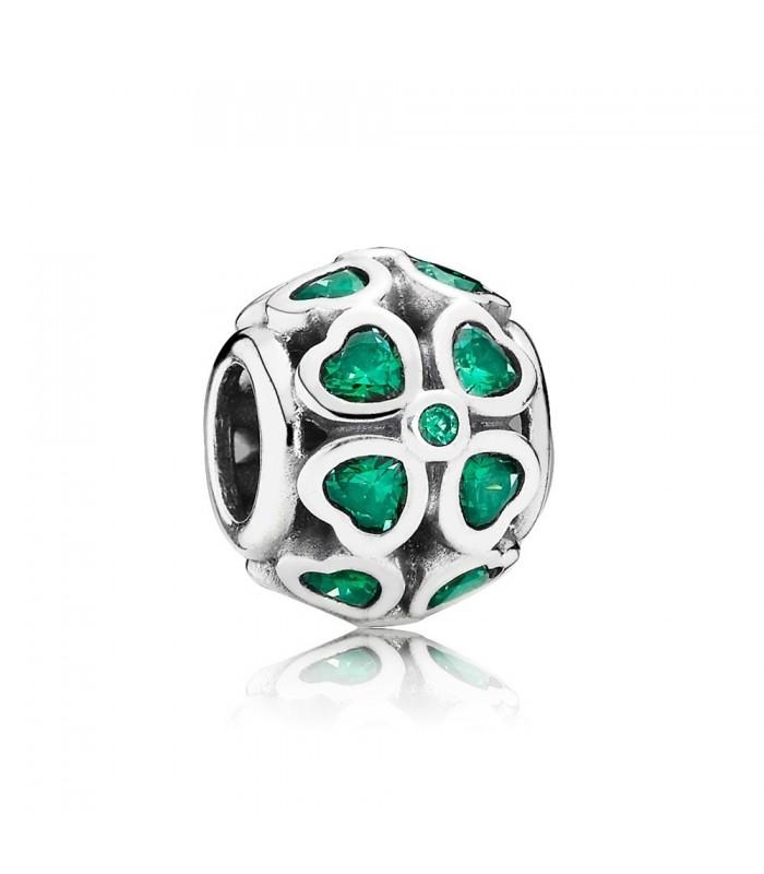 722839a3d04a Abalorio Pandora Trébol Verde de la Suerte