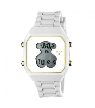 Reloj Tous D-Bear silicona blanca
