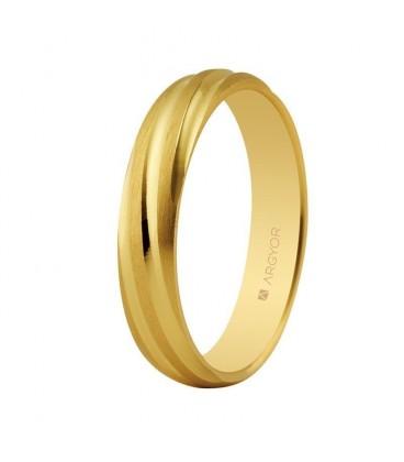 Alianza de boda oro torneada