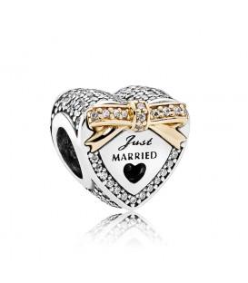 Abalorio Pandora corazon de boda