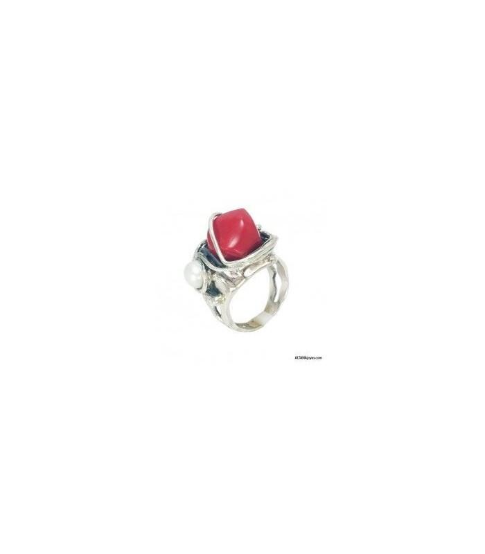 007432515d0e Anillo Altana Barroco Plata Coral Perla 11A0597