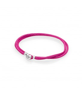 Pulsera Moments en cordón rosa